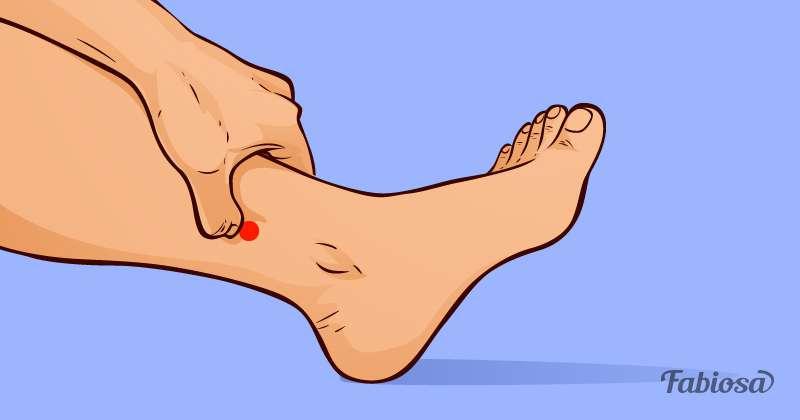 точки на ноге