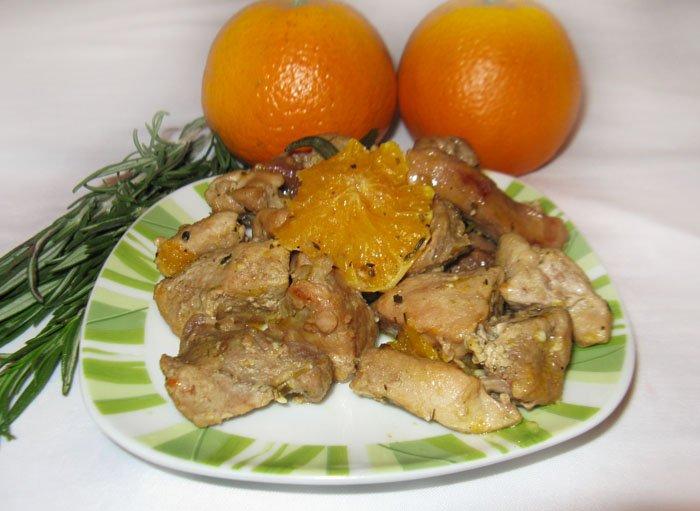 Свинина и апельсин