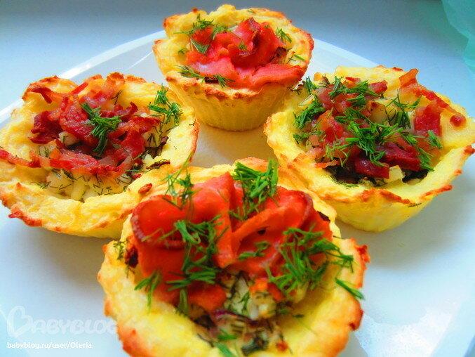 Картофельные корзинки с авокадо: ингредиенты, приготовление  на праздник?