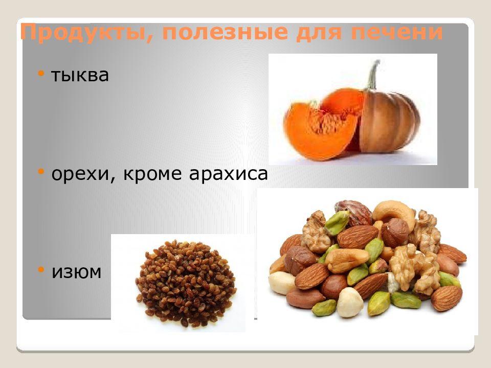 Печень полезные продукты