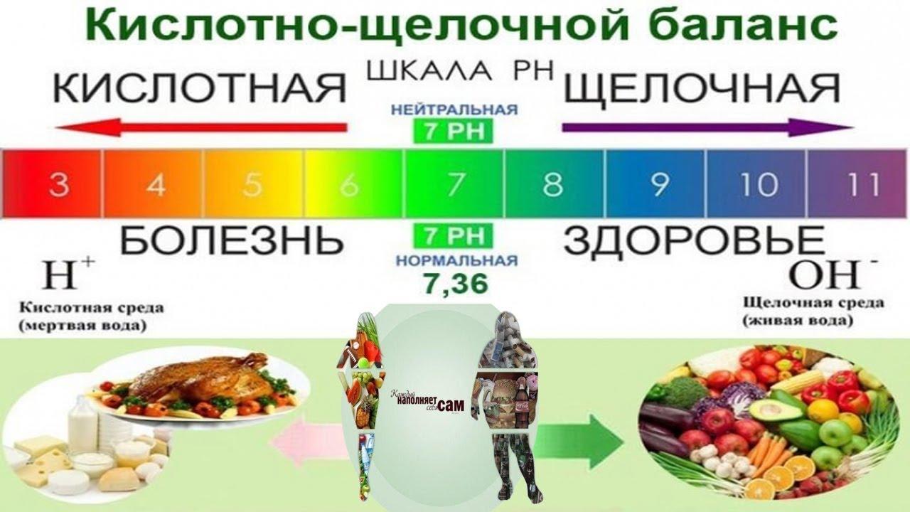 Какие продукты окисляют и ощелачивают организм: последствия, рекомендации?