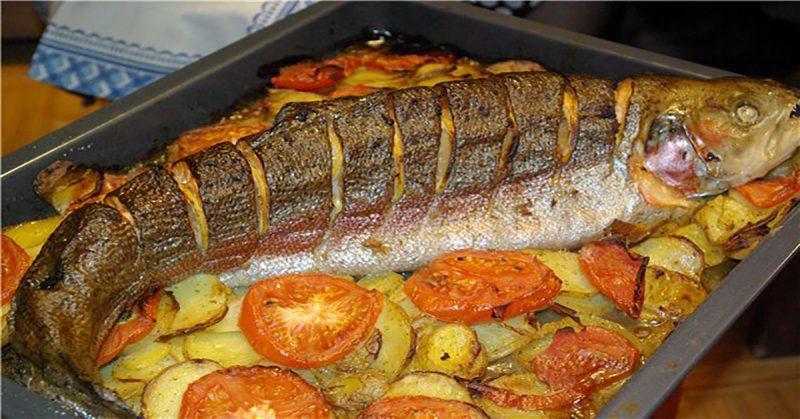 приготовить рыбу с овощами в духовке
